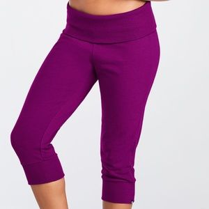 Fabletics Hamilton Sweatpants Fold-over (Purple)